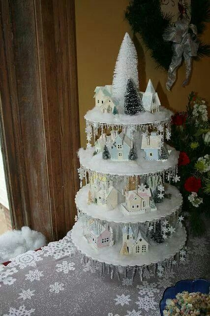 209 best Christmas Village images on Pinterest Christmas decor - christmas town decorations