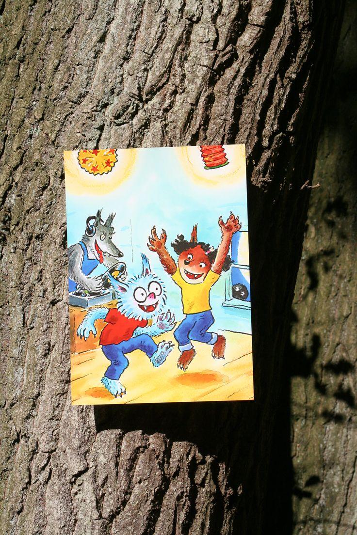 Reuzewenskaart (A4) Dolfje Weerwolfje 'feest'