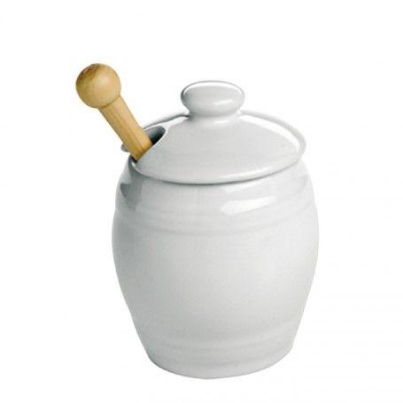 Moutardier en porcelaine
