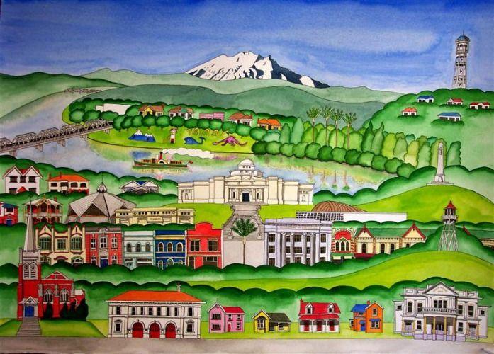 Wanganui - River City by Sarah Platt for Sale - New Zealand Art Prints