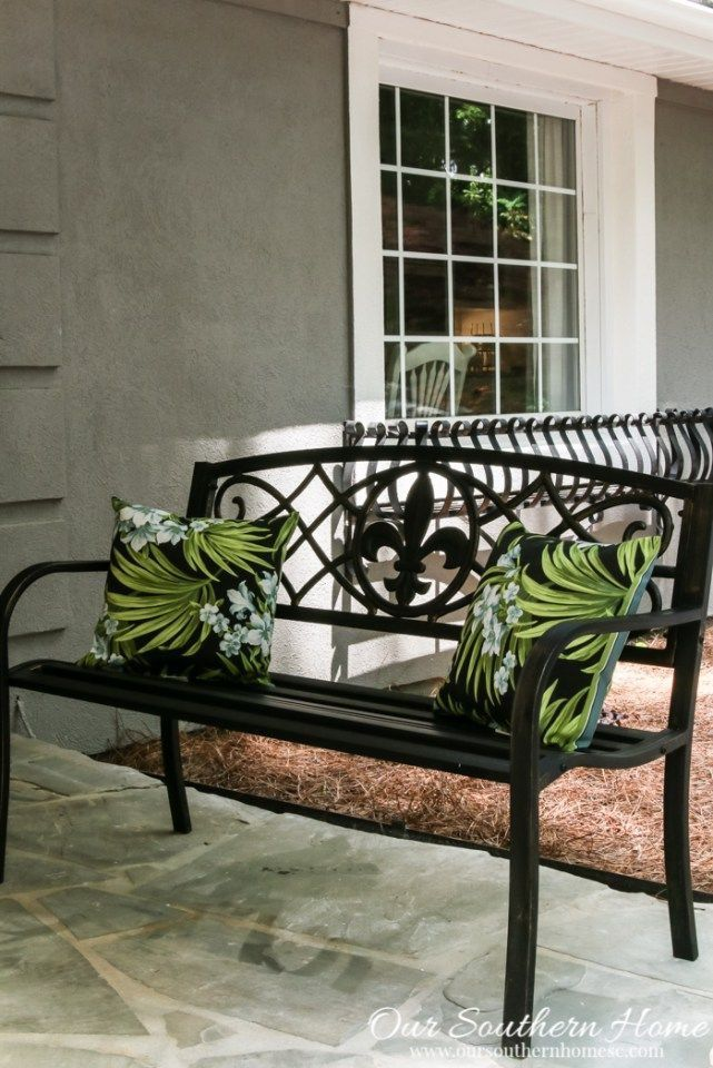 Pin By Carolyn Malin On Bench Seat Iron Furniture Outdoor Porch