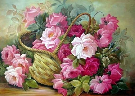 Romantic Flower Full Drill DIY 5D Diamond Painting Cross Stitch Kits Decor Art