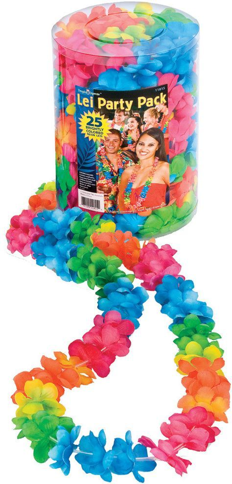 Luau Party: Lei Party Pack25 leis in one convenient container! Comes with 25 leis.Age: All
