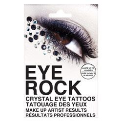 Rock Beauty Eye Rock Crystals Sparkle $9.99. Party time! I love these for parties or clubbing because you can get a make-up artist inspired effect in seconds and without fiddling around with lash glue and tweezers. Easy to use just peel off and apply and voi-la!