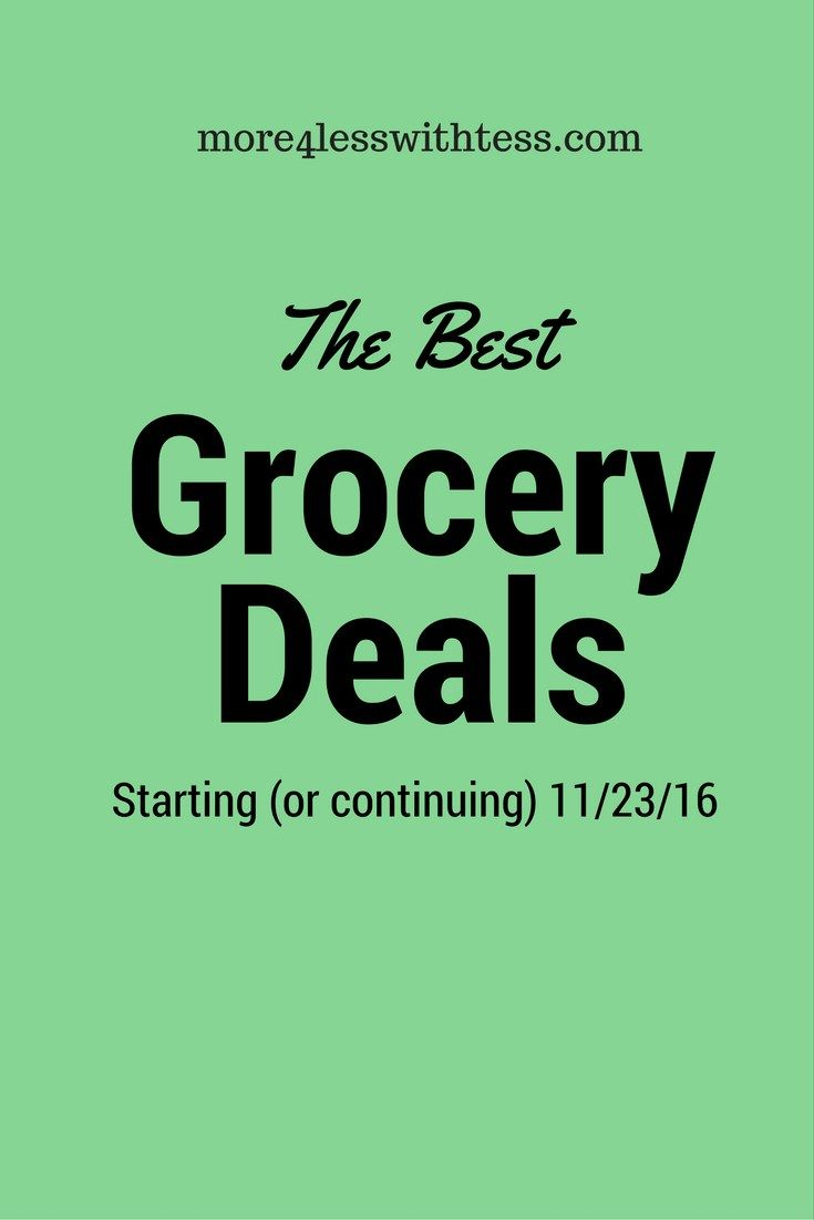 the best grocery deals starting (or continuing) 11/23/16