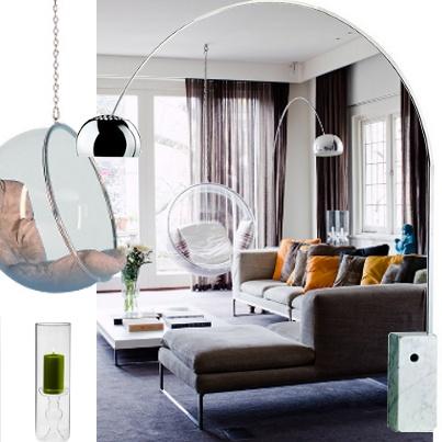 """L'objet ou le meuble qui résume ce salon ? Le """"Bouddha rieur"""" bleu !"""