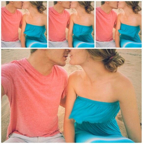 Ocean kissing kisses sand love cute girl boy inlove... Just adding words here lol