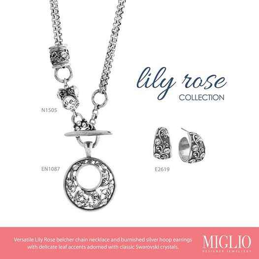 Versatile Lily Rose belcher chain necklace with classic Swarovski crystals ,complimentary enhancer and ear-rings