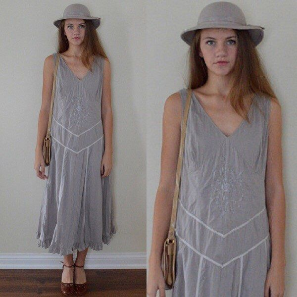 A personal favorite from my Etsy shop https://www.etsy.com/ca/listing/252661786/vintage-april-cornell-grey-dress-grey