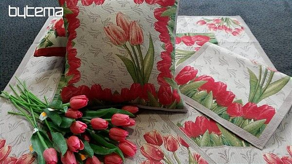 Dekorační polštář Tulipán