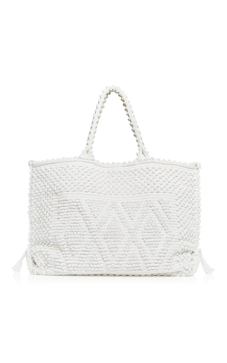 """Cappricioli Rombi Large Beach Bag by ANTONELLO Now Available on Moda Operandi,€456-Bag measures 24.0"""" x 14.5"""" x 6.75"""" with a handle drop of 8.25"""""""