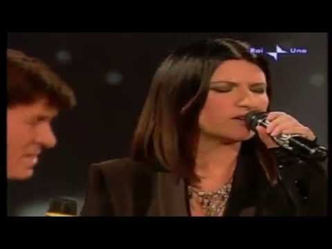 GIANNI MORANDI & LAURA PAUSINI: GRAZIE PERCHE' [LIVE 1999] - YouTube