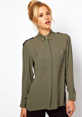 блузки в стиле милитари