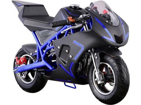 Cali 40cc Gas Pocket Bike By MotoTec - FRONT VIEW
