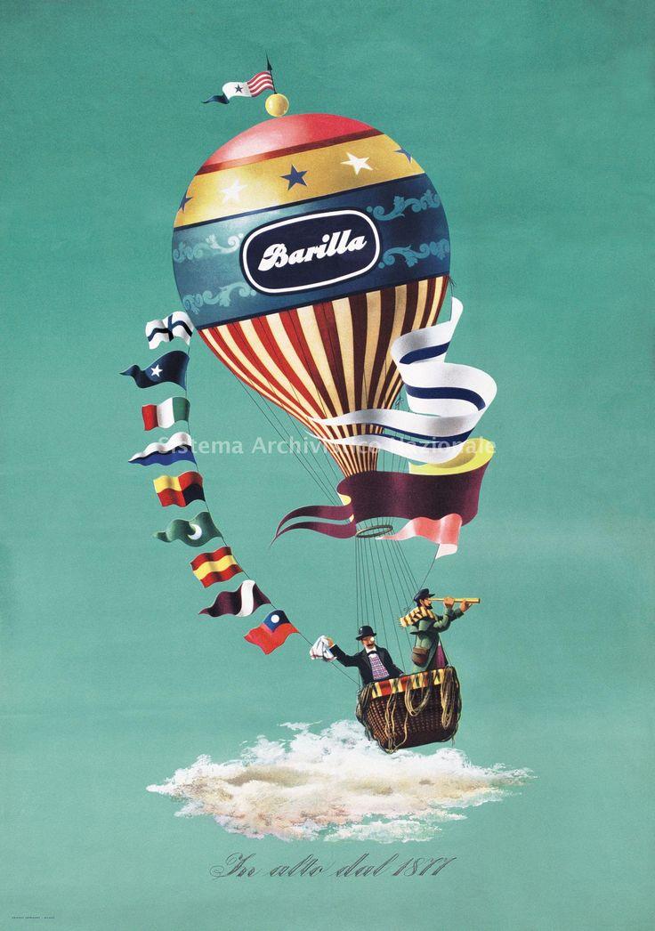 Primavera #Barilla en momentos extraordinarios, por que con Barilla siempre es una aventura de sabor. Barilla, pubblicita', 1947