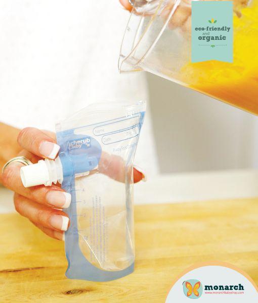 Bolsas de comida reituilizables, la mejor opcion con tus hijos y el medio ambiente..!!! Encúentralas en Monarch Baby