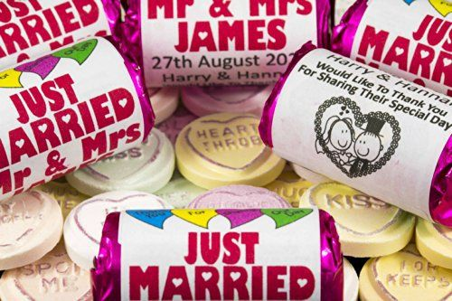 Personalised Love Hearts sweets are the ideal wedding favour.  So these are a must have for me as nothing says love like Love Hearts!   #WedwithTed @tedbaker
