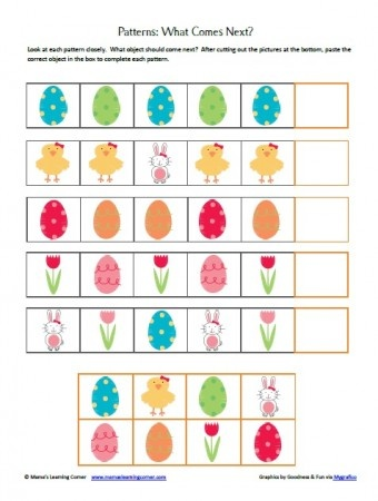 Easter Worksheet Packet from Mama's Learning Corner -  Pinned by @PediaStaff – Please Visit http://ht.ly/63sNt for all our pediatric therapy pins