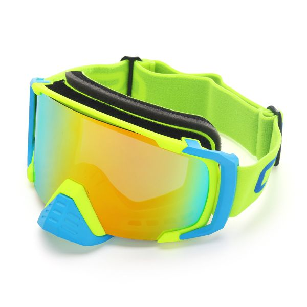 Motorcycle Skiing Googles Spherical Anti Fog Lens Biker Glasses Unisex