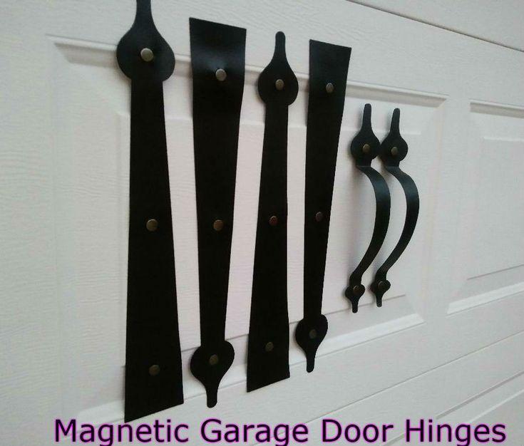 Magnetic Carriage House Garage Door Decorative Hardware Hinges SPADE Kit Faux  Ebay Affiliate marketing