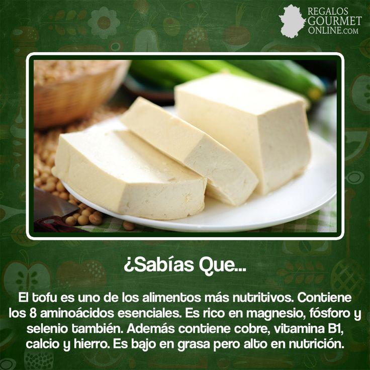 ¿#SabíasQue El tofu es uno de los alimentos más nutritivos? #Curiosidades #Gastronomía