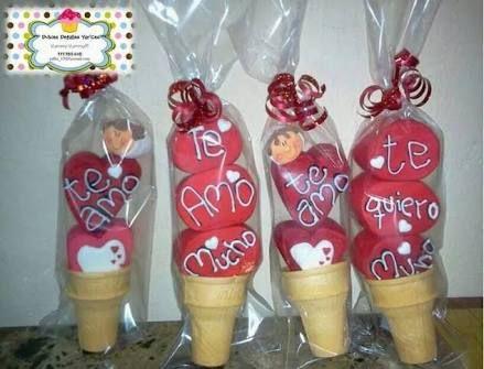 Resultado de imagen para paletas de bombon san valentin