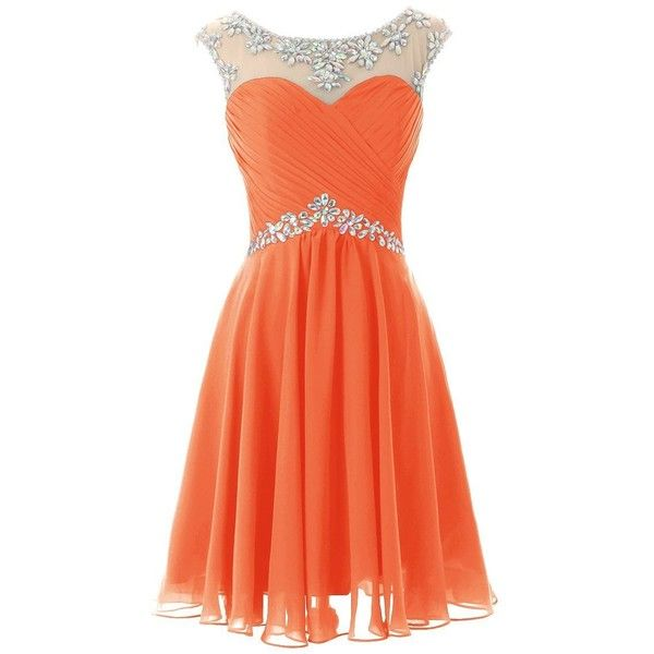 Dresstells Short Prom Dresses Sexy Homecoming Dress for Juniors... ($110) ❤ liked on Polyvore featuring dresses, short dress, red dress, short cocktail dresses, red prom dresses, prom dresses and short prom dresses
