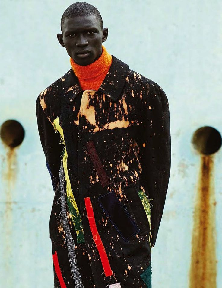Fernando Cabral captured by Julia Noni, pieces from Raf Simons x Sterling Ruby, for the Fall/Winter 2014 issue of GQ Style Germany