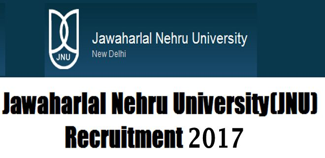 JNU Recruitment 2017 – The JNU has openings for faculty positions at the level of Professor, Associate Professor and Assistant Professor (Backlog vacancies for Unreserved and OBC category) in various areas of specialization.