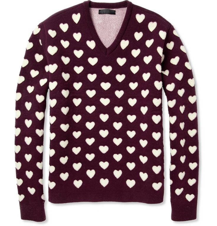 Burberry ProrsumHeart Cutout Wool and Cashmere-Blend Sweater