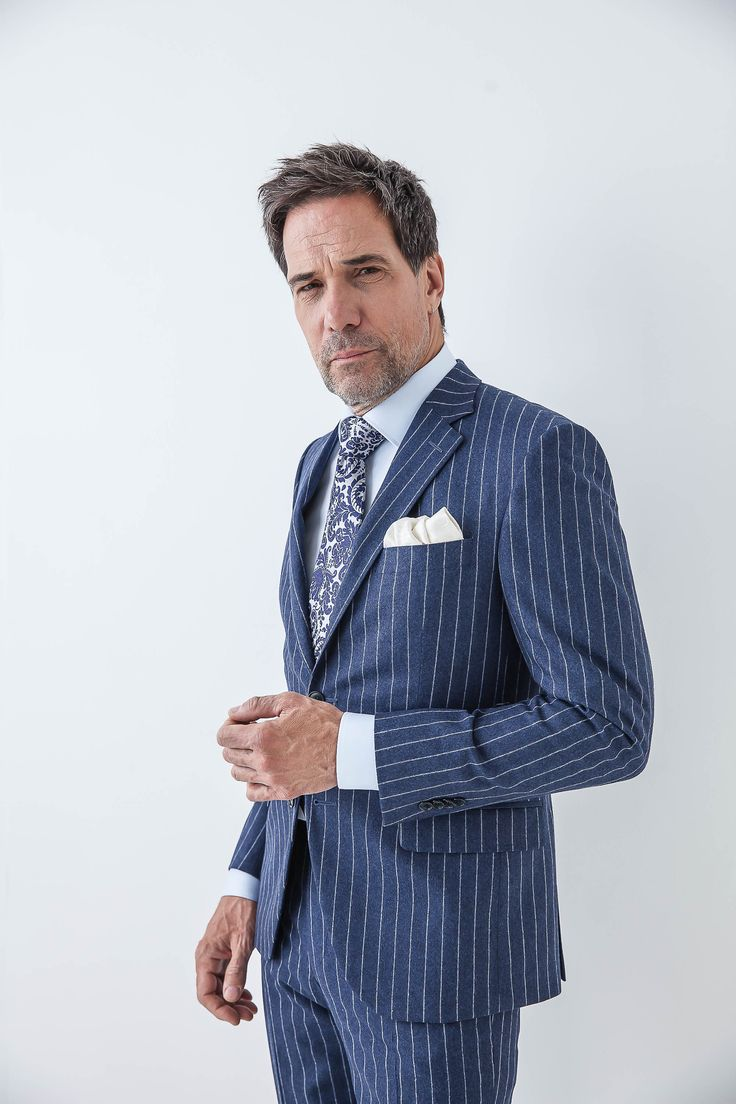 Make a bank stripe suit, your new fall addition. #theodore1922
