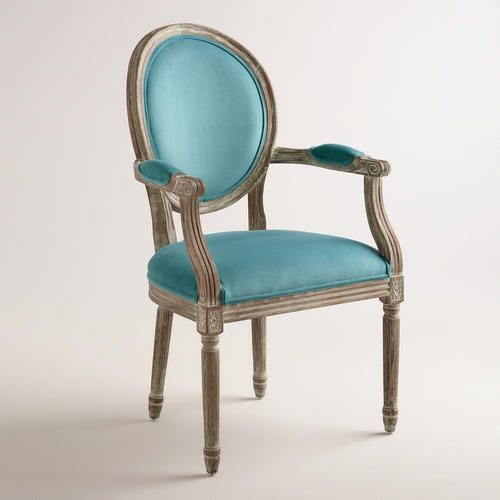 Peacock Blue Paige Round Back Armchair