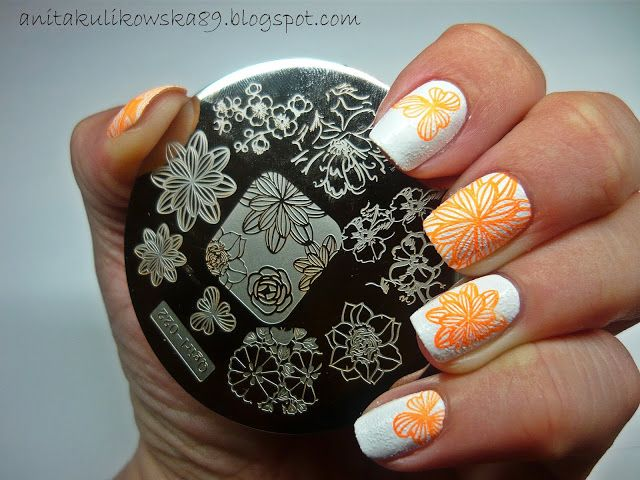 Stamping nail art with plate Q-girl 022 from Born Pretty Store  Code ANTH10 - 10%off