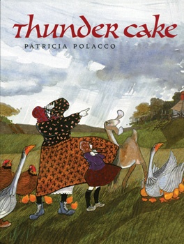 "Habit #4 Think Win-Win.... ""Thunder Cake"" by Patricia Polacco; a little girl overcomes a fear of thunderstorms with the help of her wise babushka"