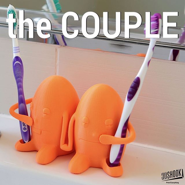 "@3dshookcollections's photo: ""These two eggheads hold your toothbrushes - funny and useful! Check us out at www.3dshook.com #3dprint #3dmodels #3dprinted #3dprinter #3dprinters #3dprinting #makers #makersgonnamake #PrintEverything #tech #technology #toothbrush #bathroom #bathroomdesign #kids #fun #humptydumpty"""