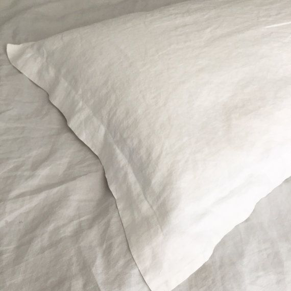 These flange linen pillowcases are finished with a 2 / 5 cm border and a deep tuck to keep your pillow snugly in place. We use the finest premium flax fiber from Europe. This washed linen with its hypoallergenic properties makes sleeping so much better as its becomes softer with each