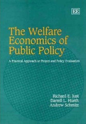 The Welfare Economics of Public Policy: A Practical Approach to Project and Policy Evaluation (PRINT VERSION) http://biblioteca.cepal.org/record=b1092040~S0*spi Provides a thorough treatment of economic welfare theory and develops a complete theoretical and empirical framework for applied project and policy evaluation. The authors illustrate how this theory can be used to develop policy analysis from both theory and estimation in a variety of areas.