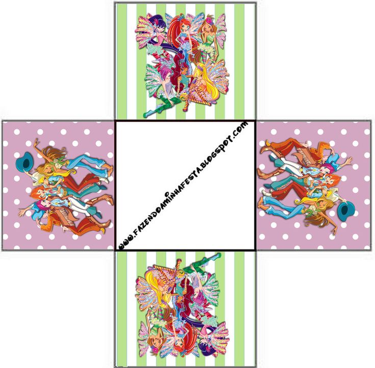 Winx: Party Favor Boxes Free Printables.