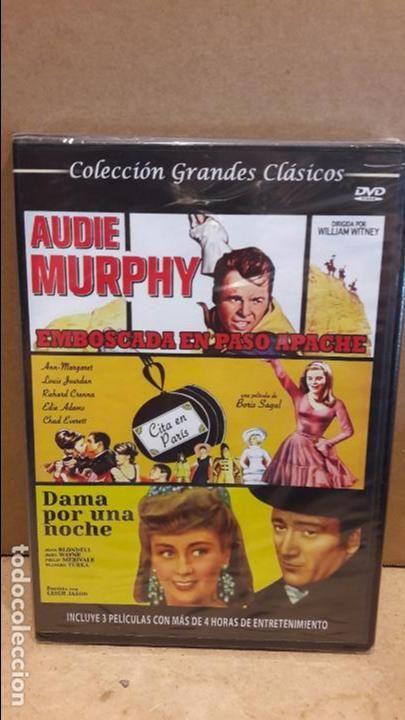 3X1 / EMBOSCADA EN PASO APACHE / CITA EN PARÍS / DAMA POR UNA NOCHE / DVD - PRECINTADO.