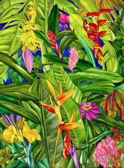 Amo essa combinação de cores! Verde, rosa, amarelo, laranja, azul, vermelho, juntos são melhores.  #Tropical