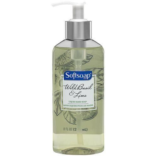 Lot Of 6 Softsoap Liquid Hand Soap Pump, Wild Basil and Lime, 8 Ounce