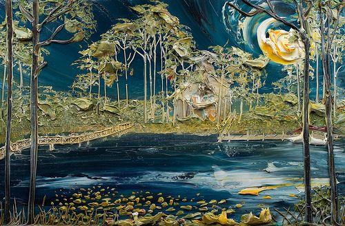 36x24 озеро сцены: Джастин товара Gaffrey комиссии для клиента