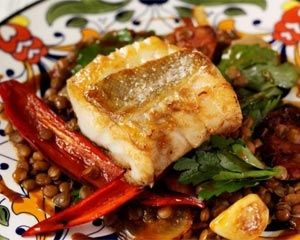 Cod and lentil tapas recipe: Recipes: Good Food Channel