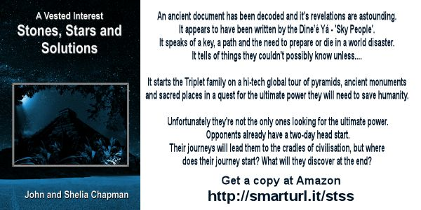A promotion for the fourth book in the series - Stones, Stars and Solutions
