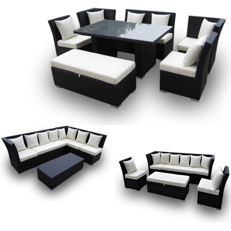 Jamaican 7 piece outdoor patio sectional for Furniture 0 interest