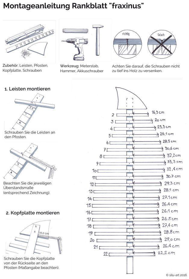 **Große Design Pflanzen – Rankgitter Ranksäule Spalier aus Holz, Rankhilfe &qu