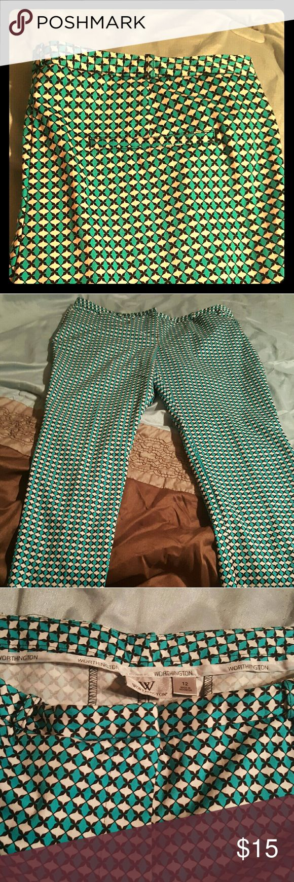 Worthington ankle length pants Washed but not worn cute ankle length pants Worthington Pants Ankle & Cropped