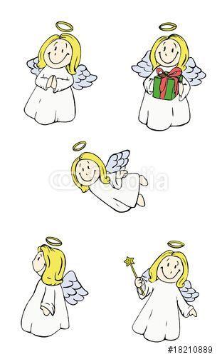 vektor angel engel christkind weihnachten heiligabend
