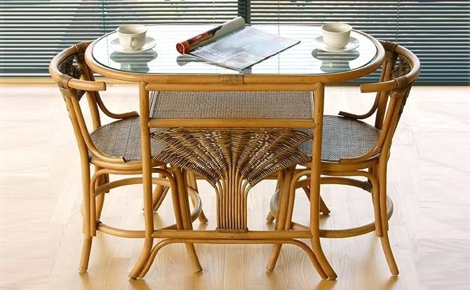Kitchen Table For Two Cane Furniture Dining Table Two Chairs With