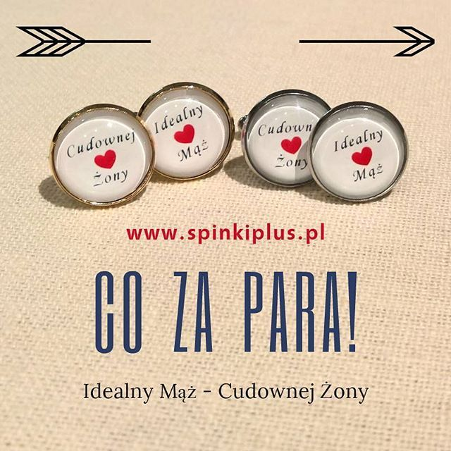 #personalizowane #spinkidomankietow #slub #idealnymąż #cudownejżony Oprawki spinek dostępne w kolorach srebrnym, złotym, różowym, brązowym i czarnym. Ceny od 60 zł #spinkiplus #ślub #dlaniego #prezent